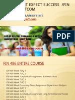 FIN 486 CART Expect Success Fin486cartdotcom