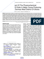 Assessment of the Physicochemical Characteristics of Soils in Major Cocoa Producing Areas in the Dormaa West District of Ghana
