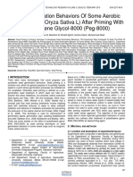 Seed Germination Behaviors of Some Aerobic Rice Cultivars Oryza Sativa L After Priming With Polyethylene Glycol 8000 Peg 8000
