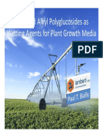 Esterified Alkyl Polyglucosides as Wetting Agents for Plant Growth Media