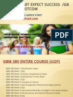 GBM 380 CART Expect Success Gbm380cartdotcom
