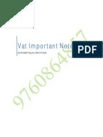 Vat Notes for CA Finals Ipcc Nov15