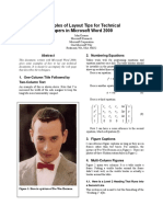 Examples of Technical Publishing Tips for Microsoft Word 2000