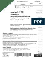 June 2014 QP - S2 Edexcel