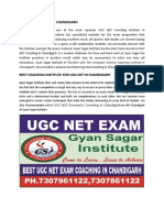 Gyan Sagar Institute Starting the Best UGC NET Coaching in Chandigarh