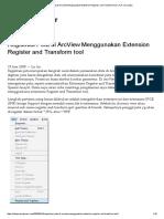 Georeferencing Di ArcView Menggunakan Extension Register and Transform