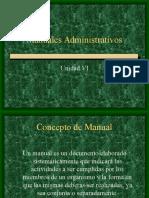 Unidad 6, Manuales Administrativos