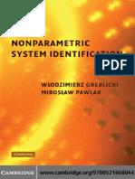 [Włodzimierz Greblicki; M Pawlak] Nonparametric System Identification