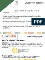 glucose homestasis and diabetes presentation