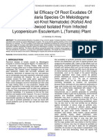Antinematicidal Efficacy of Root Exudates of Some Crotalaria Species on Meloidogyne Incognita Root Knot Nematode Kofoid and White Chitwood Isolated From Infected Lycopersicum Esculentum Ltomato Plant