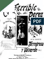 El Terrible Pérez (Canto y Piano)