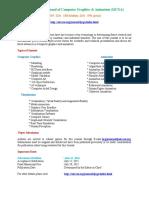 International Journal of Computer Graphics & Animation (IJCGA)
