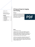 HP Secure Erase for Imaging and Printing