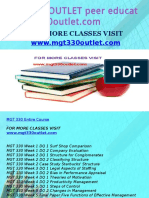 MGT 330 OUTLET Peer Educator-mgt330outlet.com