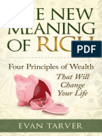 The New Meaning of Rich Four Principles of Wealth
