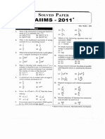 AIIMS 2011 Question Paper