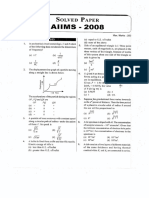 AIIMS 2008 Question Paper