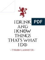 Game of Thrones T-Shirt Print