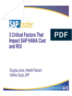 3 Factors That Impact HANA Cost