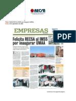 Felicita RECSA al IMSS por UMMA