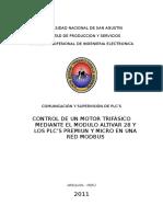 Instructivo Control de Un Motor Trifasico Plc