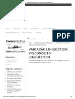 Variação Linguística_ Preconceito Linguístico
