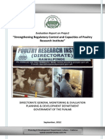 Project Id141 Eval Reprt on Poultry Research Ins Rawalpindi