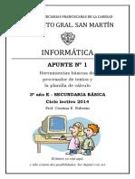 Apunte Nº 1 Informática IGSM 3º Secundaria 2014