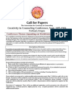 2010 ACC Creativity Conference Call for Papers