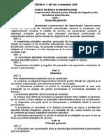 O.M.a.I. Nr. 1489 Din 2006 - Cod Etica Deontologoca