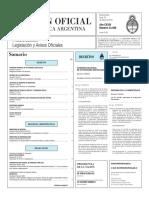 Boletín Oficial de la República Argentina, Número 33.388. 30 de mayo de 2016