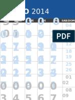 2014 calendario