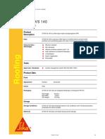 S-Felt vs 140 PDS Sika Sarnafil