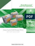 EverExceed Deep Cycle AGM Range VRLA