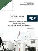 Informe de Calidad de Energía - JNE