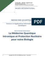 1er Congrès Inter.de Med.quantique