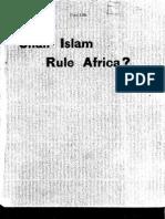 (1894) Shall Islam Rule Africa?