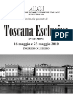 Programma Toscana Esclusiva 2010