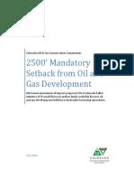 Fracking Setback Analysis