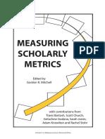 GordonMitchell Ed MeasuringScholarlyMetrics (2011)