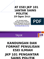 Format Esei JKP 101 Pengantar Sains Politik