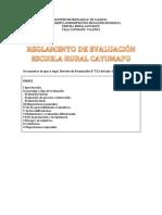Reglamento de Evaluación Escuela Rural Cayumapu