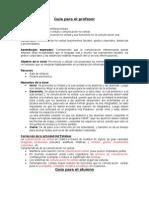 Guía para el profesor y el alumno (comunicación no verbal)..
