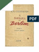 A Barbaria de Berlim