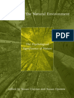Susan Clayton, Susan Opotow-Identity and the Natural Environment_ the Psychological Significance of Nature (2003)