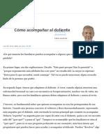 Cómo Acompañar Al Doliente - 28.04.2016 - LA NACION