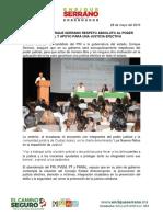 2016-05-28 Garantiza Enrique Serrano Respeto Absoluto Al Poder Judicial y Apoyo Para Una Justicia Efectiva