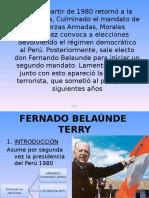 Gobierno de Belaunde Terry y Alan Garcia