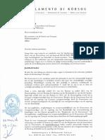 Karta pa Promé Minister for di líder di frakshon MFK