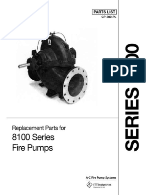 8100 Series Fire Pumps: Replacement Parts for
